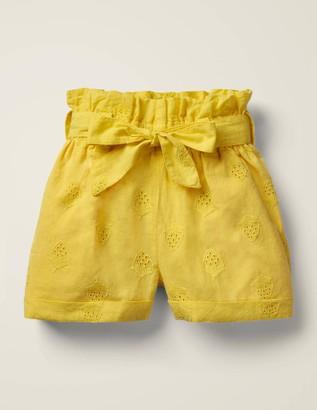 Textured Tie-Waist Shorts