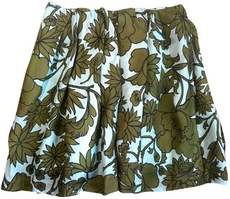 MSGM Green Skirt for Women