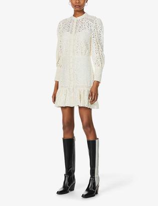 Veronica Beard Hilda lace cotton-blend mini dress