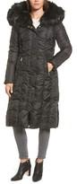 Via Spiga Women's Long Faux Fur Trim Coat