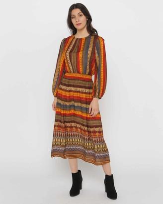 Privilege Shirred Waist Dress