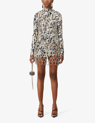 Area Rhinestone-embellished mini dress