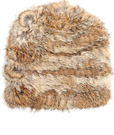 Hat Attack WOMEN'S FUR SLOUCHY HAT-BROWN