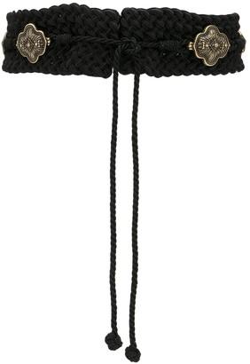 Etro Orante-Plaque Braided Waist Belt