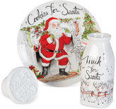 Fitz & Floyd Vintage Holiday Milk and Cookies with Cookie Press, Set of 3