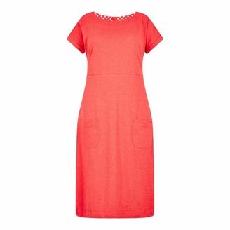 Weird Fish Talia Plain Jersey Dress Radical Red Size 10