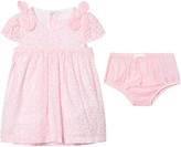 Mayoral Pink Eyelet Dress and Knickers