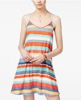 Planet Gold Juniors' Printed V-Neck Trapeze Dress