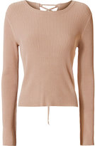 Exclusive for Intermix Mia Lace-Up Back Rib Knit