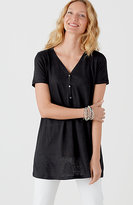J. Jill Linen-Knit V-Neck Tunic