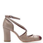 Sarah Chofakian - chunky heel pumps - women - Goat Skin - 33