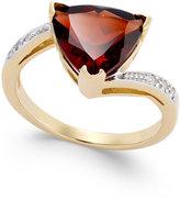Macy's Rhodolite Garnet (3-5/8 ct. t.w.) and Diamond Accent Swirl Ring in 14k Gold