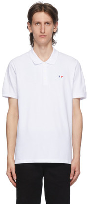 MAISON KITSUNÉ White Tricolor Fox Polo