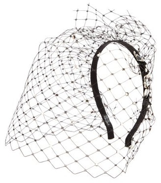 Stephen Jones Glow Crystal-embellished Veiled Headband - Womens - Black