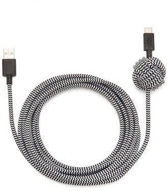 Native Union Reinforced 10ft Usb Charging Cable - Black White