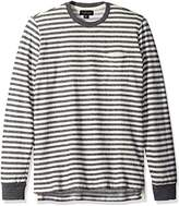 Velvet by Graham & Spencer Men's Turner Long Sleeve Striped Pocket T-Shirt