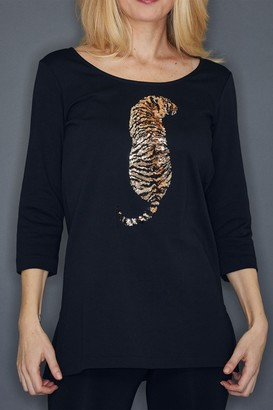 Joan Vass The Tiger Sequin Tunic