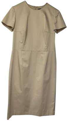 Barneys New York Beige Cotton - elasthane Dress for Women