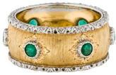 Buccellati 18K Bi-Color Emerald Band
