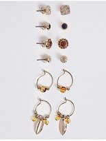 M&S Collection 6 Pack of Earrings Set