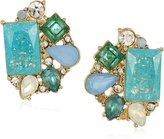 """Carolee Cracked Stone"""" Cluster Clip-On Earrings"""