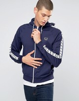 Fred Perry Sports Authentic Track Jacket In Carbon Blue