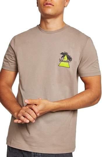 Topman Slim Fit Venice Graphic T-Shirt