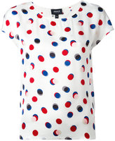 Armani Jeans circle print T-shirt - women - viscose - 46