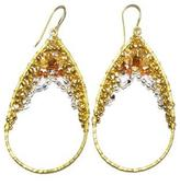 Ananda Brass-Beaded Earrings