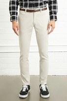 Forever 21 FOREVER 21+ Belted Slim-Fit Pants