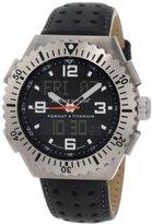 Momentum Men's 1M-Sp24B2B Format 4 Analogue-Digital Black Perforated Leather Watch