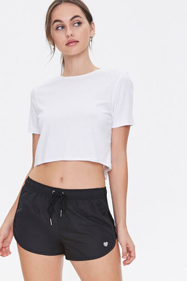Forever 21 Active Sheer Mesh-Trim Shorts