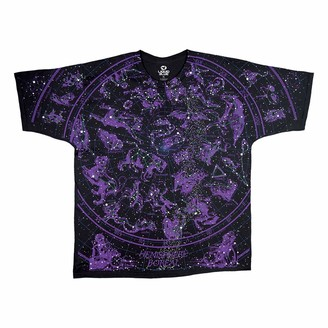 Liquid Blue Unisex-Adult's Constellations All Over Glow-in-Dark T-Shirt