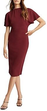 Reiss Josie Zip Detail Bodycon Dress