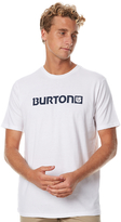 Burton Logo Horizontal Mens Tee White