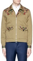 Paul Smith Floral embroidered cotton-linen coach jacket
