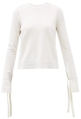 Chloé Iconic Slit-cuff Wool-blend Sweater - Womens - Ivory