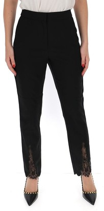 Self-Portrait High Waisted Lace Detail Trousers