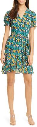 Diane von Furstenberg Emilia Floral Short Sleeve Wrap Dress