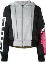 Moschino panelled bomber jacket - women - Cotton/Polyamide/Polyester/Rayon - 42