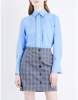 Claudie Pierlot Flared-cuff cotton-poplin shirt