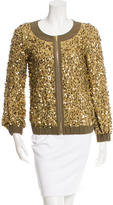 Tory Burch Silk Embellished Jacket