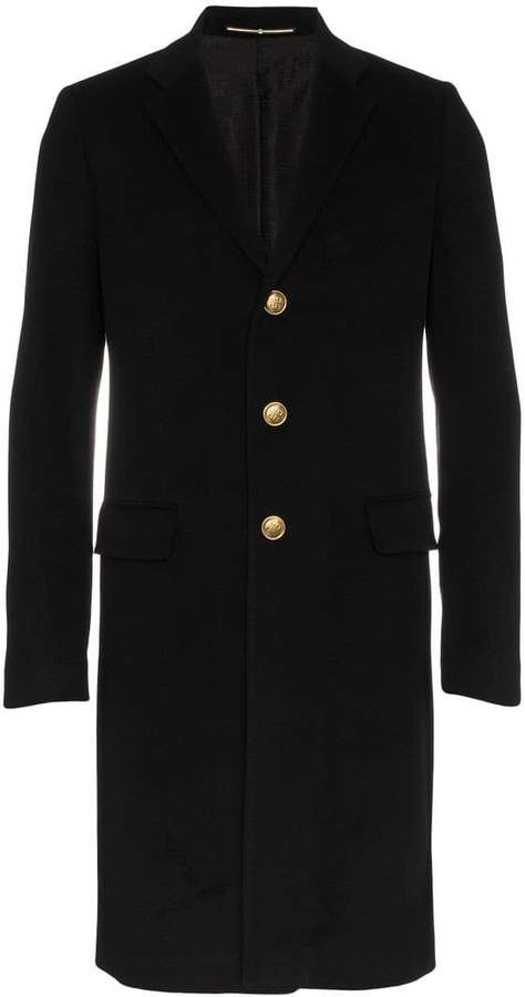 Givenchy single breasted wool cashmere-blend overcoat