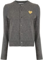 Comme des Garcons logo-patch knitted cardigan