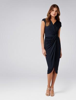 Forever New Tiffany Twist Dress - Navy - 6