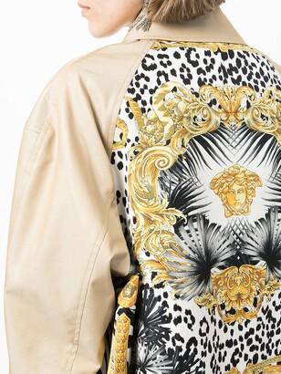 Junya Watanabe Baroque-Pattern Print Coat