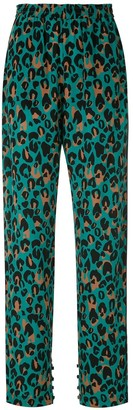 Nk Taiane animal print silk trousers