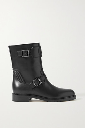 Valentino Garavani Go Logo Rider 35 Leather Ankle Boots - Black