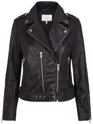 Just Female Taxane Leather Jacket - M - Black