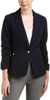 Tahari by Arthur S. Levine Women's Bi Stretch Scrunch Sleeve Jacket with Gold Finish Hardware